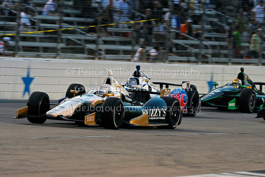 Ed Carpenter (#20), Marco Andretti (#26) and Oriol Servia (#22)