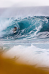 surfer in the barrel..Tamaora mc comb or TJ barron not sure,pipe-line,North-shore Hawaii