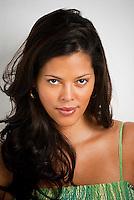 Portrait of beautiful pregnant Hispanic woman
