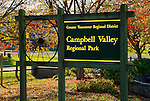 Campbell Valley Park Sign