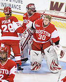 Kerrin Sperry (BU - 1), Alissa Fromkin (BU - 30) - The visiting Boston University Terriers defeated the Boston College Eagles 1-0 on Sunday, November 21, 2010, at Conte Forum in Chestnut Hill, Massachusetts.