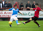 Brechin City v St Johnstone&hellip;26.07.16  Glebe Park, Brechin. Betfred Cup<br />Murray Davidson is tackled by Finn Graham<br />Picture by Graeme Hart.<br />Copyright Perthshire Picture Agency<br />Tel: 01738 623350  Mobile: 07990 594431