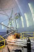 Welder working and repairing the keck telescope on Mauna Kea