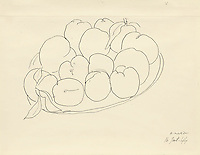 BNPS.co.uk (01202 558833)<br /> Pic: SalonDuDessin/BNPS<br /> <br /> Matisse 'Les pomme plume'.<br /> <br /> A exhibition reveals the brilliant technique behind some of the worlds greatest artists - as their stunning drawings come up for auction.<br /> <br /> Preparatory sketches are for most people nowadays the only way to ever own an original work by a famous artist and more than 1,000 drawings from some of the world's most famous have emerged on the market.<br /> <br /> The remarkable collection, which features drawings and preparatory sketches by Henri Matisse, Pablo Picasso, Edgar Degas and Salvador Dali, will be showcased at the six-day Salon Du Dessin exhibition in Paris in March.<br /> <br /> Notable works are tipped to sell for hundreds of thousands of euros and the overall value of the collection is estimated at 25-30 million euros.<br /> <br /> Drawings have become increasingly collectible in the past 10 years as they are seen as a more affordable way of getting hold of works from the art greats.<br /> <br /> Included in the sale are Matisse's 1944 drawing of 'apples' with pen and ink on paper, Degas' 'dancer' with charcoal on paper, Picasso's 'women with flowers' with pen and red pencil on paper and Dali's 'Madonna with Christ' using watercolour, ink and a ball-point pen.<br /> <br /> Degas' sketch of a dancer bares a striking resemblance to his famous sculpture of The Little Fourteen-Year-Old Dancer in 1881.