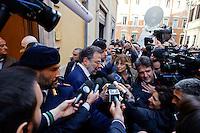 Roma  23 Aprile 2013.Si riunusce  la direzione nazionale del Partito Democratico. Umberto Ranieri