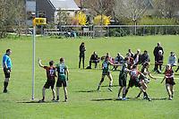 KORFBAL: REDUZUM: Sportpark Reduzum, 28-04-2013, Veld Hoofdklasse A, KV Mid Fryslân-LDODK AH Gorredijk, Eindstand 13-19, ©foto Martin de Jong