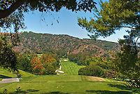Mountaingate, Country Club, Golf Course, Santa Monica Mountains,  Brentwood, Los Angeles, California ,CA, Landscape ,Trees
