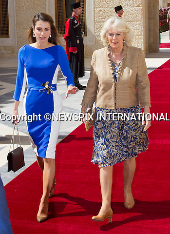 "PRINCE CHARLES AND CAMIILA ARE GREETED BY QUEEN RANIA AND KING ABDULLAH.at the Official Welcome, Hummar Palace, Amman_12/03/2013.The Royal couple are on a tour of four Middle Eastern countries..Mandatory credit photo:©DiasImages/NEWSPIX INTERNATIONAL..**ALL FEES PAYABLE TO: ""NEWSPIX INTERNATIONAL""**..PHOTO CREDIT MANDATORY!!: NEWSPIX INTERNATIONAL(Failure to credit will incur a surcharge of 100% of reproduction fees)..IMMEDIATE CONFIRMATION OF USAGE REQUIRED:.Newspix International, 31 Chinnery Hill, Bishop's Stortford, ENGLAND CM23 3PS.Tel:+441279 324672  ; Fax: +441279656877.Mobile:  0777568 1153.e-mail: info@newspixinternational.co.uk"