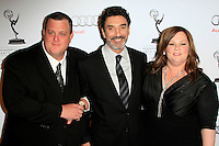 LOS ANGELES - MAR 1:  Billy Gardell, Chuck Lorre, Melissa McCarthy arrives at the Academy of Television Arts & Sciences 21st Annual Hall of Fame Ceremony at the Beverly Hills Hotel on March 1, 2012 in Beverly Hills, CA