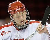Chris Higgins (BU - 10) - The Boston University Terriers defeated the University of Maine Black Bears 1-0 (OT) on Saturday, February 16, 2008 at Agganis Arena in Boston, Massachusetts.