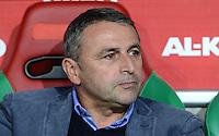 FUSSBALL   1. BUNDESLIGA  SAISON 2012/2013   7. Spieltag FC Augsburg - Werder Bremen          05.10.2012 Enttaeuschung von Manager Klaus Allofs (SV Werder Bremen)