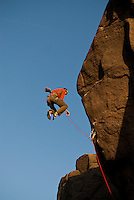 Kevin Jorgeson takes another big fall before making the first ground-up of Parthian Shot, E9, Burbage