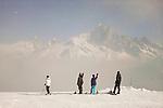 Skiing the Brevent area in Chamonix
