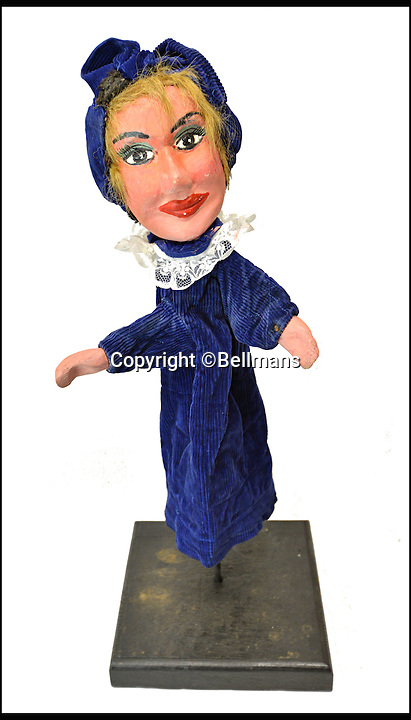 BNPS.co.uk (01202 558833)<br /> Pic: Bellmans/BNPS<br /> <br /> Madamoiselle Judy.<br /> <br /> Beats Blackpool - Punch&amp;Judy puppets that graced Cannes on the Cote d'Azur in the 1960's for sale.<br /> <br /> A collection of vintage puppets made for a French Punch and Judy puppeteer over 50 years ago have emerged for sale.<br /> <br /> The 10 papier mache pieces include wife-beating Mr Punch, his long-suffering partner, the crocodile, the policeman and the judge.<br /> <br /> The collection is also made up of five lesser-known characters that feature in the seaside show.<br /> <br /> These are the Chinaman, the black man, the pirate, the chauffeur and the skeleton.
