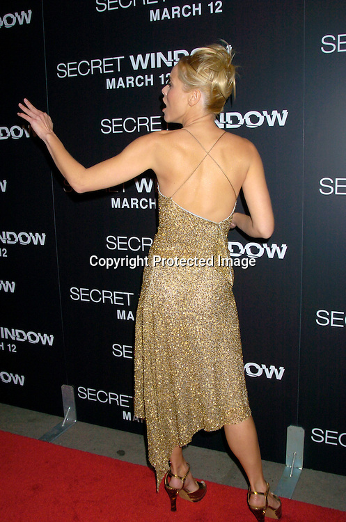 """Maria Bello ..at the World Premiere of """"Secret Window"""" on March 7, 2004 at the Loews Lincoln Square.                                   Photo by Robin Platzer, Twin Images"""