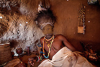 Witchdoctor Julio Sardinha Janico (50), while possessed by his spirit 'Malecha'.
