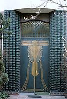 Peter Behrens: Behrens House, Darmstadt, 1901. Detail of door.