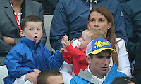 Kai Rooney fights with his brother Klay as   Mum Coleen Looks On