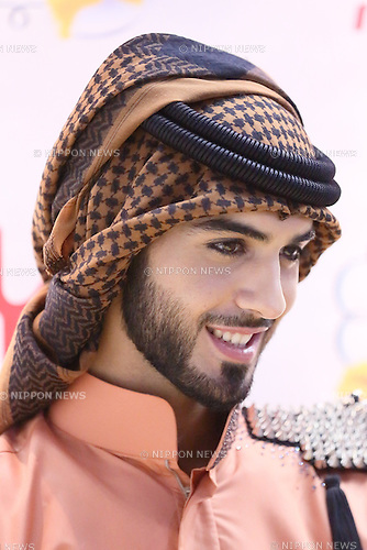 Omar Borkan Al Gala, Aug 31, 2013 : Omar Borkan Al Gala attends Morinaga Doublei photocall of Tokyo Giles Collection on 31 Aug 2013 Saitama Super Arena. (Photo by Motoo Naka/AFLO)