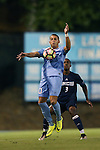 04 October 2016: North Carolina's Zach Wright (10) and UNCW's Jamil Gracia (3). The University of North Carolina Tar Heels hosted the UNC Wilmington Seahawks at Fetzer Field in Chapel Hill, North Carolina in a 2016 NCAA Division I Men's Soccer match. UNC won the game 1-0.