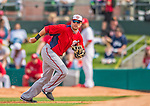 2 March 2013: Washington Nationals infielder Matt Skole in action during a Spring Training game against the St. Louis Cardinals at Roger Dean Stadium in Jupiter, Florida. The Nationals defeated the Cardinals 6-2 in their first meeting since the NLDS series in October of 2012. Mandatory Credit: Ed Wolfstein Photo *** RAW (NEF) Image File Available ***
