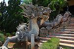 Dragon statue. Linh An Tu Pagoda, near Dalat, Vietnam. April 19, 2016.