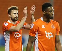 Blackpool's Clark Robertson celebrates with fans after the match<br /> <br /> Photographer Alex Dodd/CameraSport<br /> <br /> The EFL Sky Bet League Two - Blackpool v Stevenage - Tuesday 14th March 2017 - Bloomfield Road - Blackpool<br /> <br /> World Copyright &copy; 2017 CameraSport. All rights reserved. 43 Linden Ave. Countesthorpe. Leicester. England. LE8 5PG - Tel: +44 (0) 116 277 4147 - admin@camerasport.com - www.camerasport.com