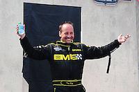 May 1, 2011; Baytown, TX, USA: NHRA top fuel driver Troy Buff during the Spring Nationals at Royal Purple Raceway. Mandatory Credit: Mark J. Rebilas-
