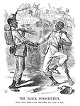 "The Black Conscription. ""When black means black then comes the end (?) of war."""