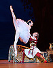 Le Corsaire <br /> by Alexei Ratmansky of Petipa <br /> Bolshoi Ballet <br /> at The Royal Opera House, Covent House, London, Great Britain <br /> 11th August 2016 <br /> Rehearsal<br /> <br /> <br /> <br /> Yulia Stepanova as Medora<br /> Denis Rodkin as Conrad <br /> <br /> <br /> <br /> Photograph by Elliott Franks <br /> Image licensed to Elliott Franks Photography Services