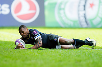 Semesa Rokoduguni of Bath Rugby scores his second try of the match. European Rugby Challenge Cup Quarter Final, between Bath Rugby and CA Brive on April 1, 2017 at the Recreation Ground in Bath, England. Photo by: Patrick Khachfe / Onside Images