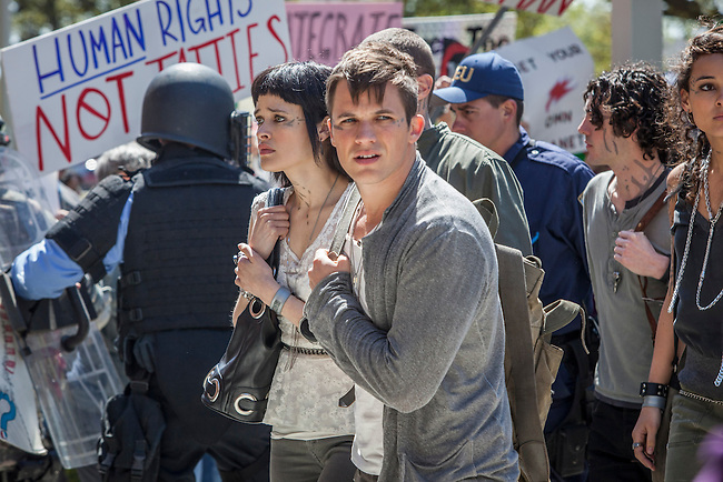 "An epic romance ignites between a human girl (Aimee Teegarden) and an alien boy (Matt Lanter) on CW Networks' ""Star-Crossed"""