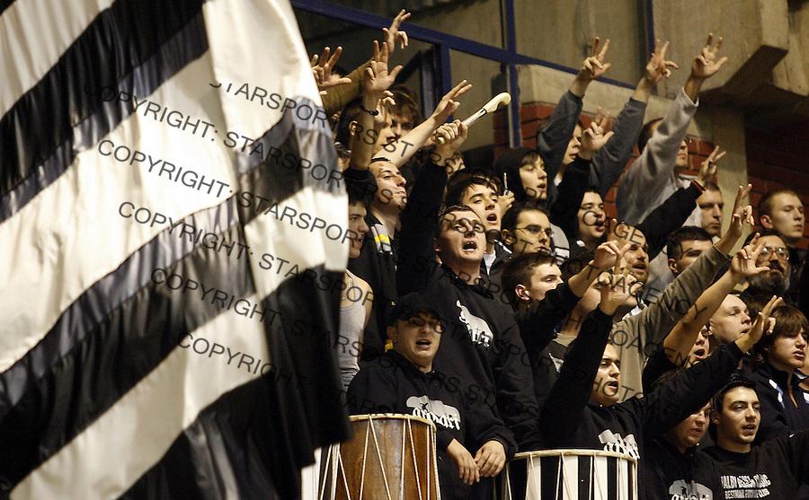 Euroleague, season 2006/07Partizan Vs. Olimpija (Slovenia)navijaci Partizana, Grobari, supporters of Partizan, UndertakersBeograd, 17.01.2007.foto: Srdjan Stevanovic