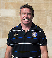 Head Coach Mike Ford poses for a portrait at a Bath Rugby photocall. Bath Rugby Media Day on September 8, 2015 at Farleigh House in Bath, England. Photo by: Rogan Thomson for Onside Images