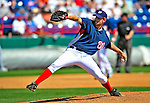 10 March 2009: Washington Nationals pitcher Michael Hinckley on the mound during a Spring Training game against the New York Mets at Space Coast Stadium in Viera, Florida. The Nationals and Mets tied 5-5 in the 10-inning Grapefruit League matchup. Mandatory Photo Credit: Ed Wolfstein Photo