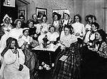Waterbury's Young Women's Friendly League dress party, January 29, 1900.