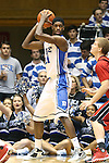 02 November 2013: Duke's Amile Jefferson. The Duke University Blue Devils played the Drury University Panthers in a men's college basketball exhibition game at Cameron Indoor Stadium in Durham, North Carolina. Duke won the game 81-65.