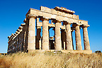Greek Dorik Temple ruins of Temple F at Selinunte, Sicily photography, pictures, photos, images &amp; fotos. 44