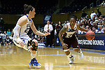 22 March 2015: Mississippi State's Jerica James (21) and Duke's Rebecca Greenwell (23). The Duke University Blue Devils hosted the Mississippi State University Bulldogs at Cameron Indoor Stadium in Durham, North Carolina in a 2014-15 NCAA Division I Women's Basketball Tournament second round game. Duke won the game 64-56.