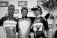 Fleche Wallonne 2012..womens Fleche Wallonne podium:.1/ Evelyn Stevens.2/ Marianne Vos.3/ Linda Villumsen..