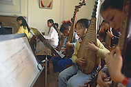 October 1984. A public school in Shanghai. Music lesson.