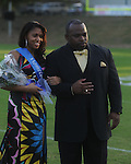 Kreneice Reid is escorted by David Walton during Homecoming ceremonies before the Water Valley vs. J.Z. George football game in Water Valley, Miss. on Friday, September 10, 2010.