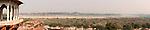 Panorama of Agra Fort, Yamuna River and Taj Mahal