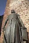 Statue to Dom Sancho I, Silves Castle, Silves, Algarve, Portugal