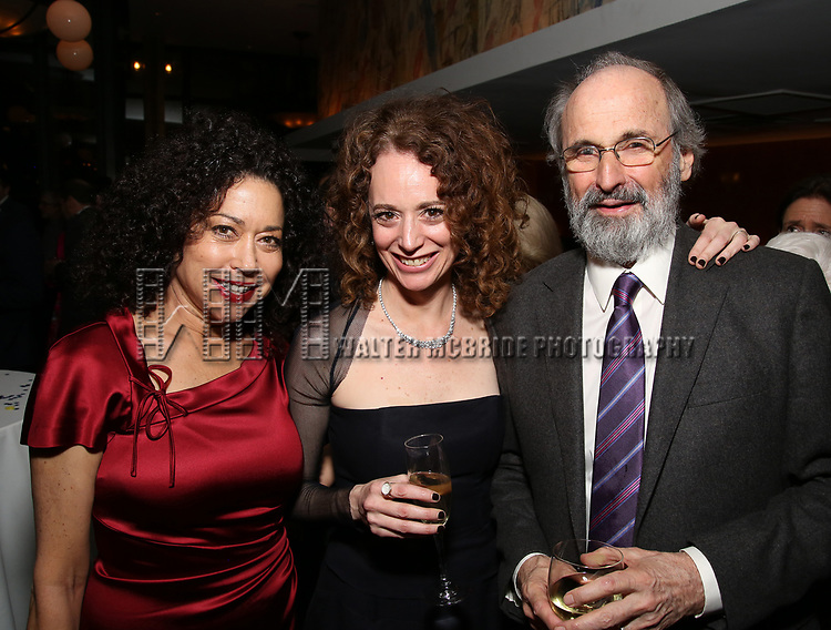 Mimi Lieber, Rebecca Taichman and Daniel J. Sullivan attends the Broadway Opening Night After Party for  'Indecent' at Bryant Park Grill on April 18, 2017 in New York City.