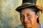 San Juan del Oro, Peru. Portrait of a woman.