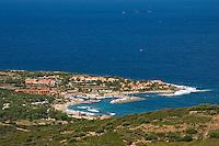 Corsica. Marina de St. Ambroggio. Near Calvi in the Balagna. France..