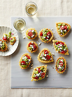 Cornbread Tartlets with Tomato-Lima Bean Relish