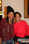 Designer Tracy Reese and Actress and singer Rhonda Ross (Another World) sings Christmas Carols - Hearts of Gold links to a better life celebrates Christmas with a party #2 for mothers and their children on December 17, 2016 in New York City, New York with arts and crafts, a great turkey dinner with all the goodies and then the children met Santa Claus and had a photo with him as he gave them gifts. (Photo by Sue Coflin/Max Photos)