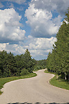 Sky Scenic Over Winding Road   near Rõuge, Estonia, Europe